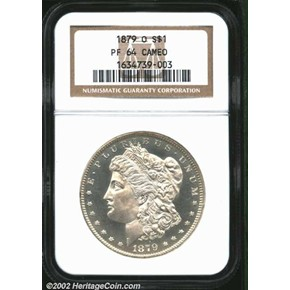 1879 O $1 PF obverse