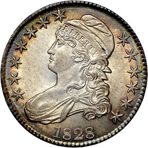 1828 50C MS obverse