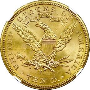 1903 S $10 MS reverse