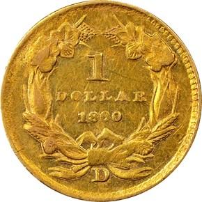 1860 D G$1 MS reverse