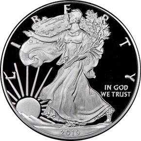 2019 W Eagle S$1 PF obverse
