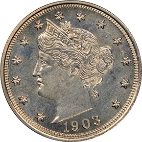 1903 5C PF obverse