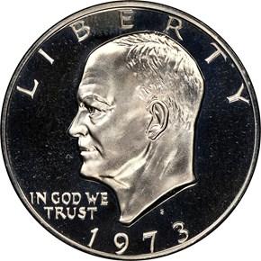 1973 S CLAD $1 PF obverse