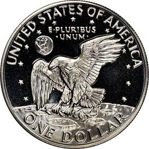 1973 S CLAD $1 PF reverse