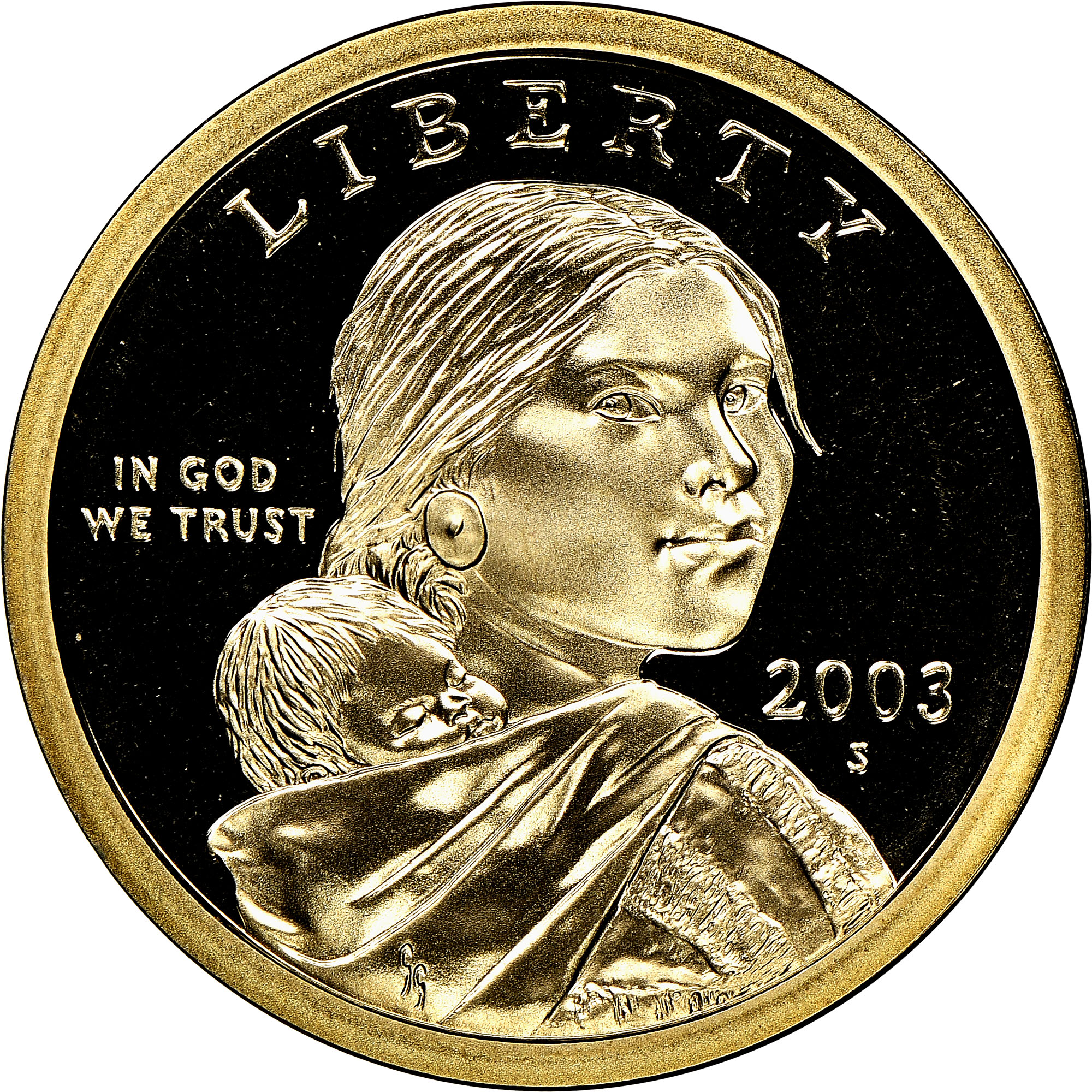 2003 S Sacagawea Dollar NGC PF70 Ultra Cameo Randy Teton Hand Signed