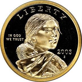 2003 S $1 PF obverse