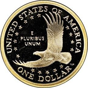2003 S $1 PF reverse