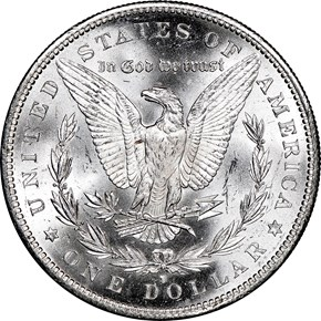 1890 S $1 MS reverse