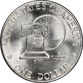 1776-1976 TYPE 2 $1 MS reverse
