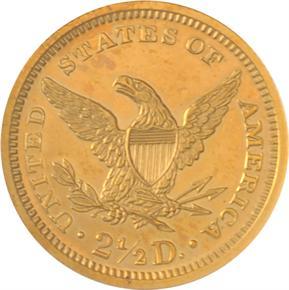 1865 J-439 GILT $2.5 PF reverse