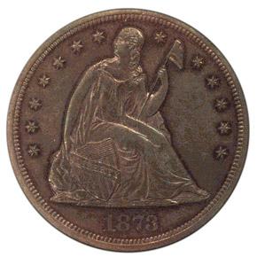 1873 J-1274 S$1 PF obverse