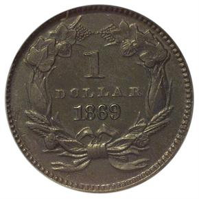1869 J-766 G$1 PF reverse