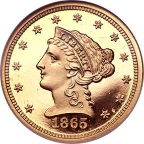 1865 $2.5 PF obverse