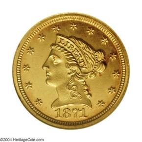 1871 $2.5 PF obverse