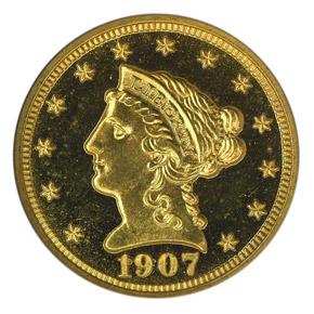 1907 $2.5 PF obverse