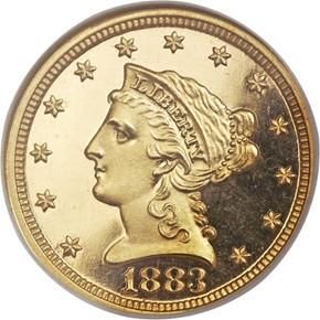 1883 $2.5 PF obverse