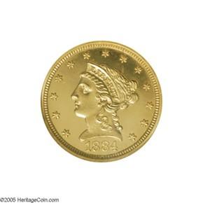 1884 $2.5 PF obverse