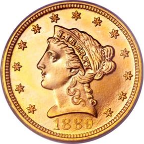 1889 $2.5 PF obverse