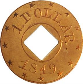 1849 J-115 G$1 PF obverse