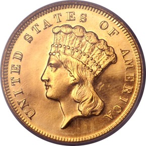 1872 $3 PF obverse