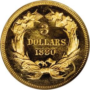 1880 $3 PF reverse