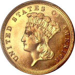 1885 $3 PF obverse