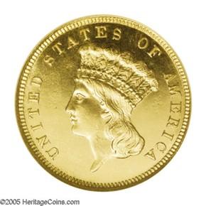 1888 $3 PF obverse