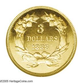 1888 $3 PF reverse