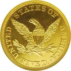 1862 $5 PF reverse