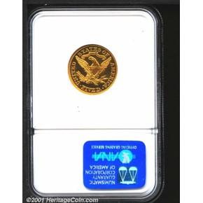 1875 $5 PF reverse