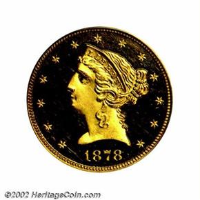 1878 $5 PF obverse