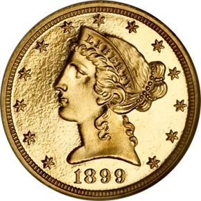 1899 $5 PF obverse