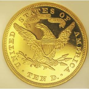 1868 $10 PF reverse
