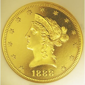 1888 $10 PF obverse