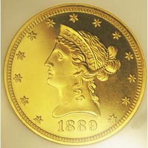1889 $10 PF obverse