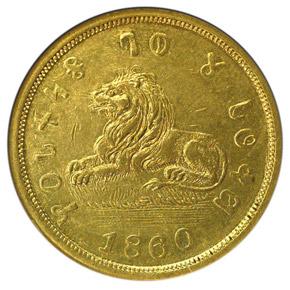 1860 MORMON $5 MS obverse