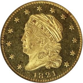 1821 BD-1 $2.5 PF obverse