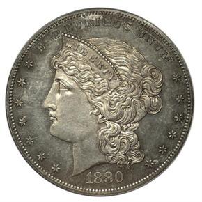 1880 J-1645 S$1 PF obverse