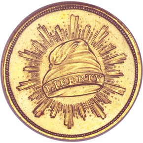 1836 J-70 GILT G$1 PF obverse