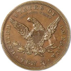 1862 J-298 $10 PF reverse