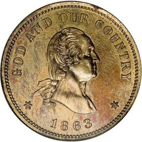 1863 J-310 2C PF obverse