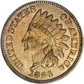 1864 J-353 1C MS obverse