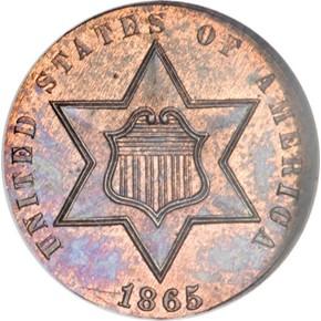 1865 J-415 3CS PF obverse
