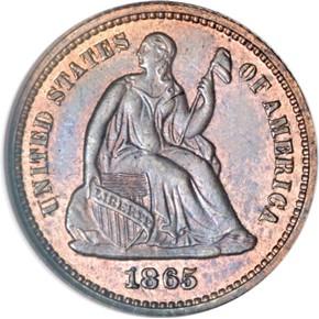 1865 J-420 H10C PF obverse