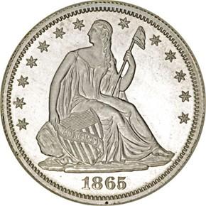 1865 J-431 50C PF obverse