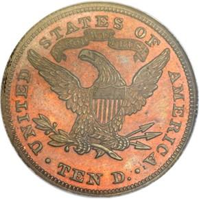 1865 J-450 $10 PF reverse
