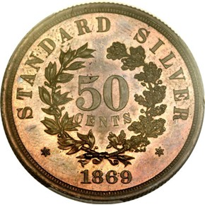 1866 J-549 GILT $20 PF reverse