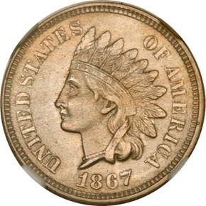 1867 J-552 1C MS obverse