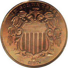 1867 J-573 5C PF obverse