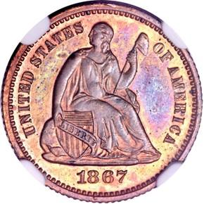 1867 J-586 H10C PF obverse